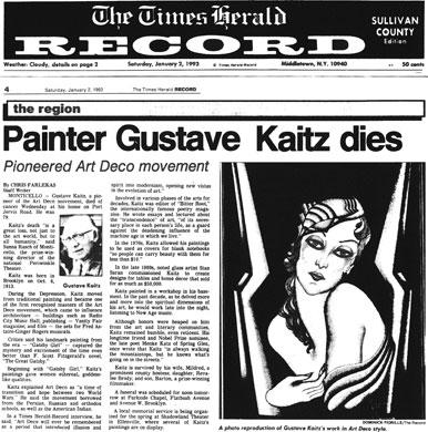 Gustave Kaitz Death - Times Herald